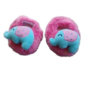 💗Plush Infant Sock/Slipper, Blue Elephant